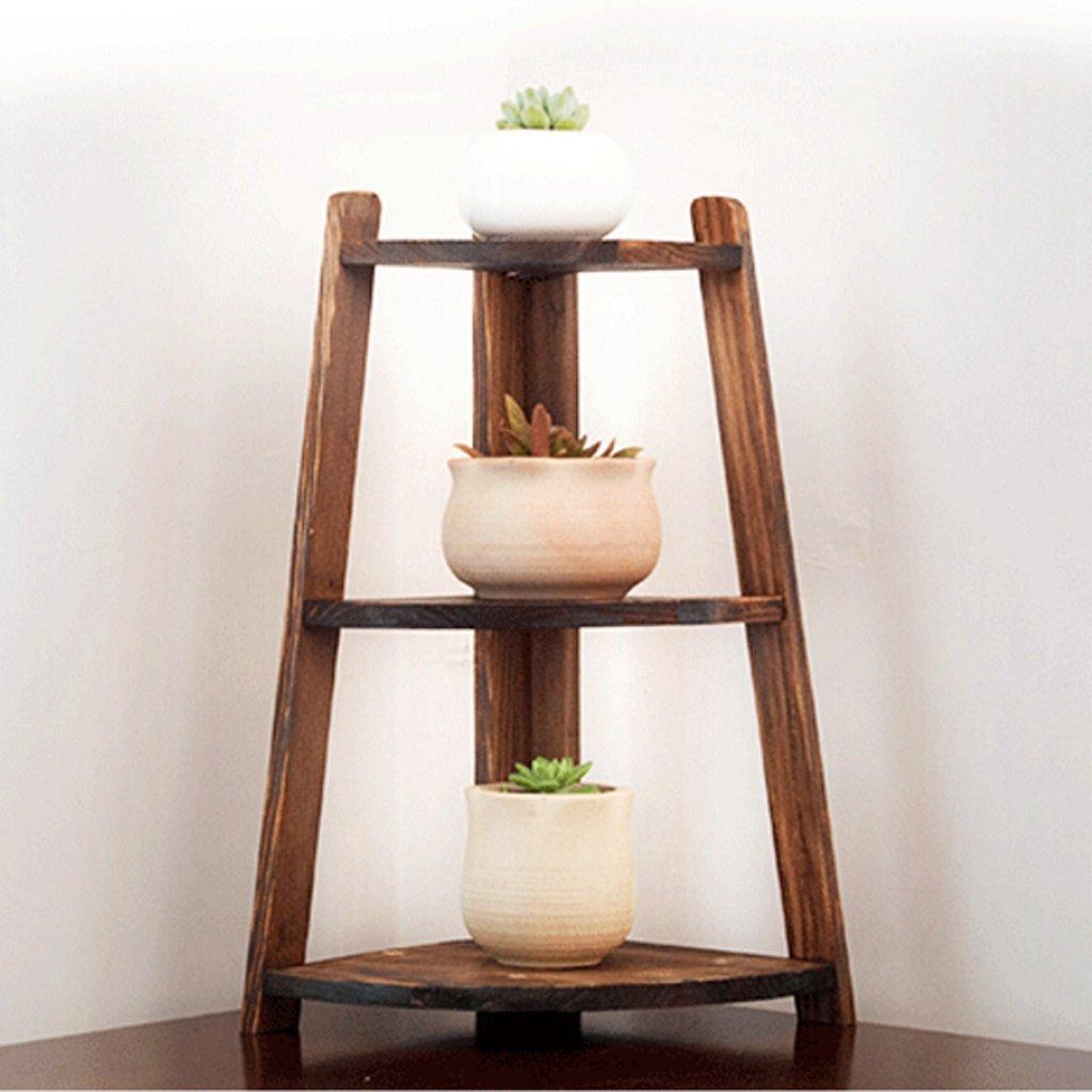Desktop flower stand triangular corner desk shelves mini desktop plant shelves storage shelves lightweight and convenient space-saving (Size : 19x40cm)
