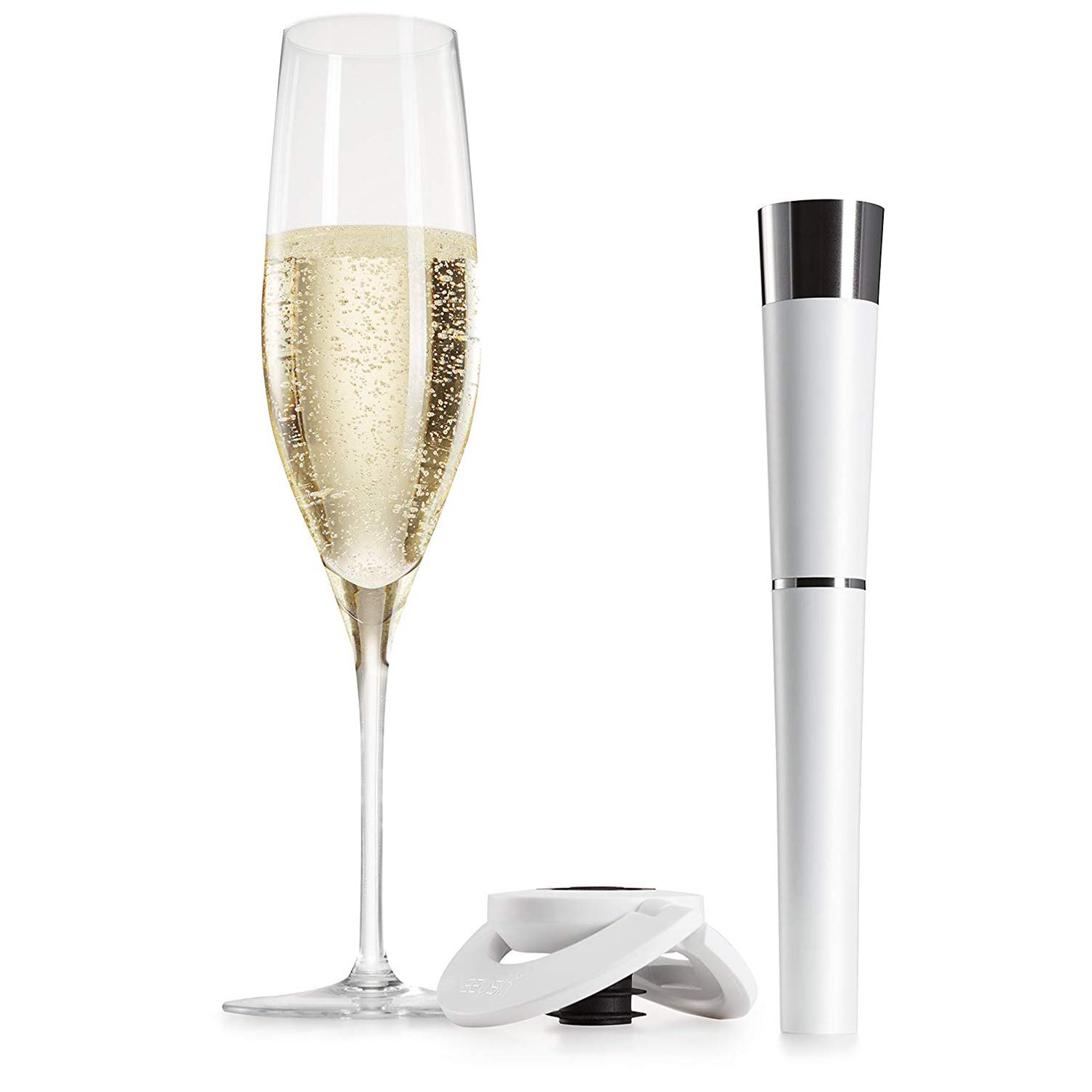 zzysh Champagne Starter Set with Hand Piece, Stopper, 1 Cartridge and Instruction Manual, 3 x 3 x 19.6 cm, ABS/Stainless Steel, White, 200-0020-1002 by zzysh