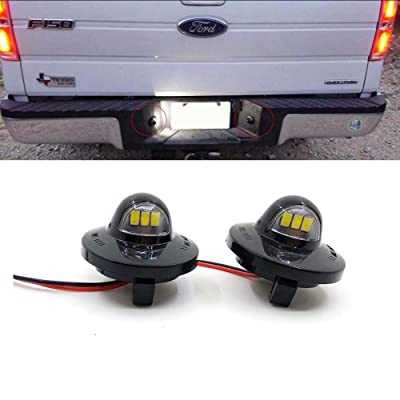 Xinctai 2PCS LED License Plate Light Lamp Assembly Replacement for Ford F150 F250 F350 F450 F550 Superduty Pickup Truck Bronco Explorer Sport Trac Ranger Expedition Excursion Lincoln Mark LT: Automotive