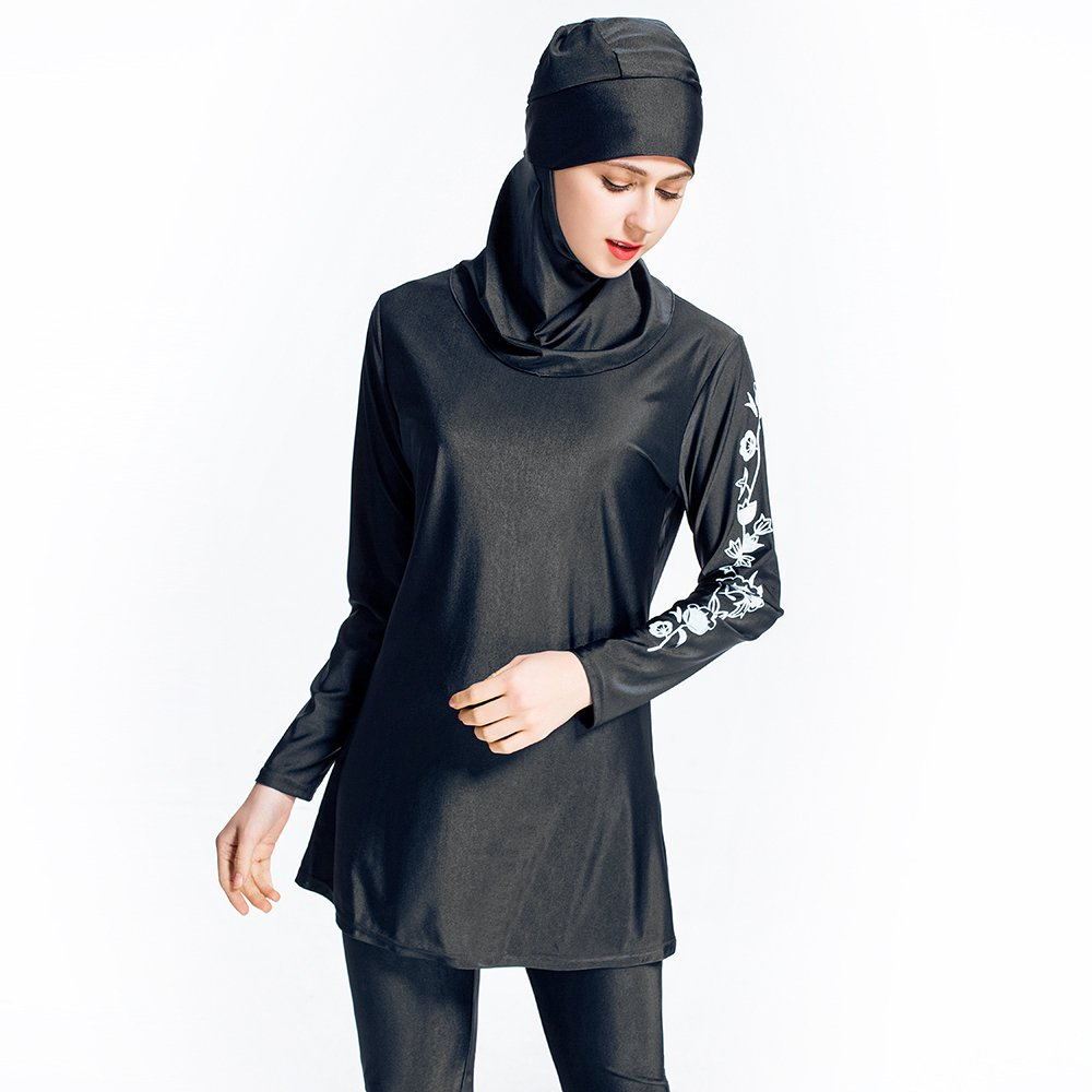 a70c23b9204 ziyimaoyi S-6XL Women Plus Size Floral Conservative Swimwear Muslim Swimwear  Muslimah Beach Bathing Suit Islamic Swimsuit Muslim Swim Surfing Wear: ...