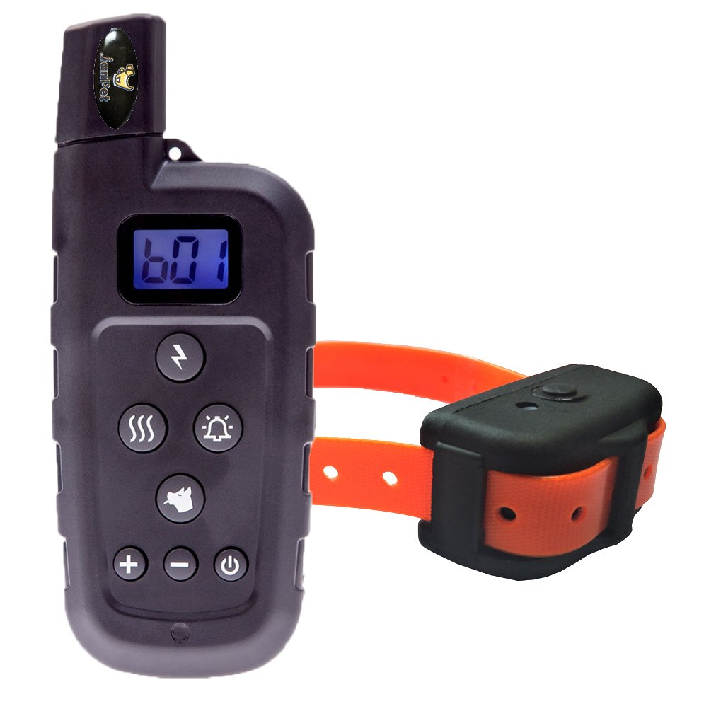 orange Dog Training Collar with Remote, Waterproof and Rechargeable 600Yd Electronic Shock Collars, for Small Medium Large Dog Behavior Trainings over 10 Pounds (orange)
