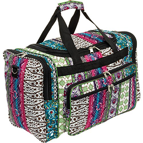 Cheap Women's 19″ Printed Duffel Bag (Boho W/Black Trim)