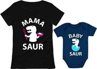 Mama Saur - T-Rex Mom & Baby Saur T-Rex Baby Matching Set