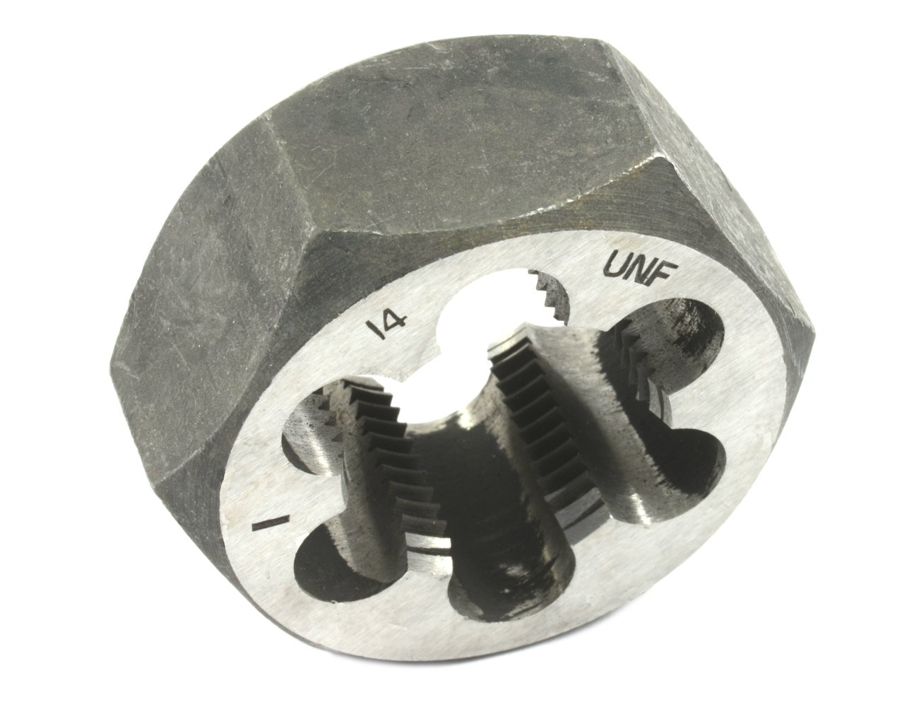 Forney 21189 Pipe Die Industrial Pro UNF Hex Re-Threading Carbon Steel, Right Hand, 1-Inch-by-14