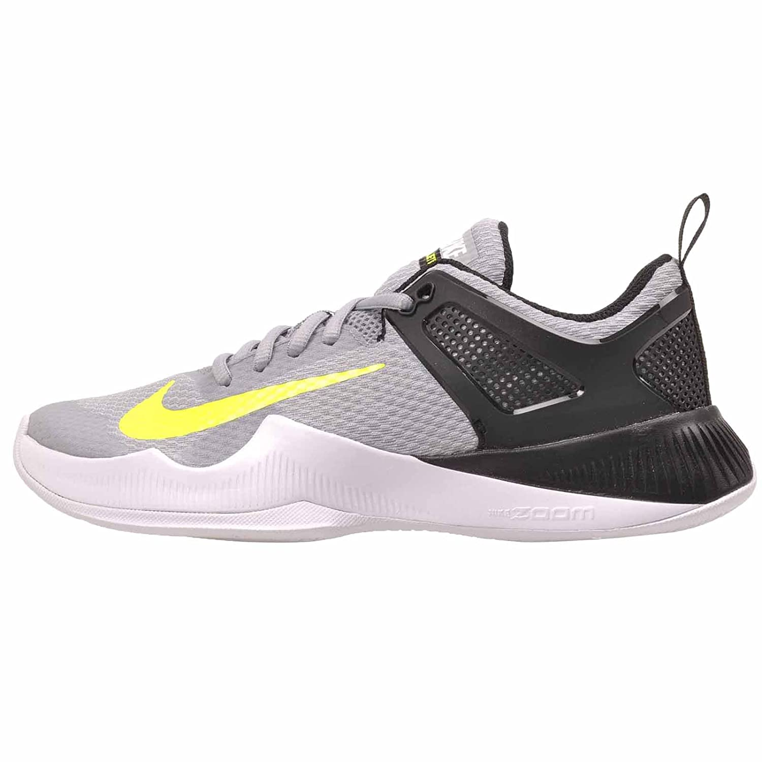 NIKE Women's Air Zoom Hyperace Volleyball Shoes B01LPSUJAQ 7 B(M) US|Wolf Grey/Volt-black