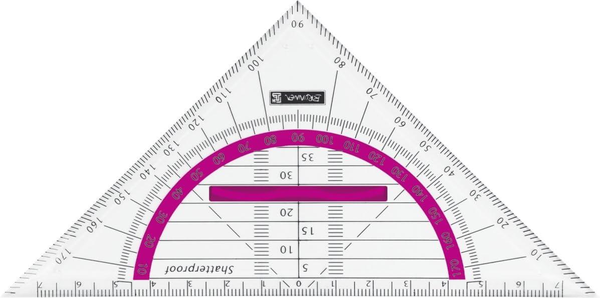 Baier Schneider &GEOMETRIE-, Set Square for The Office, School) Geometric Triangle Colour Code Kunstst