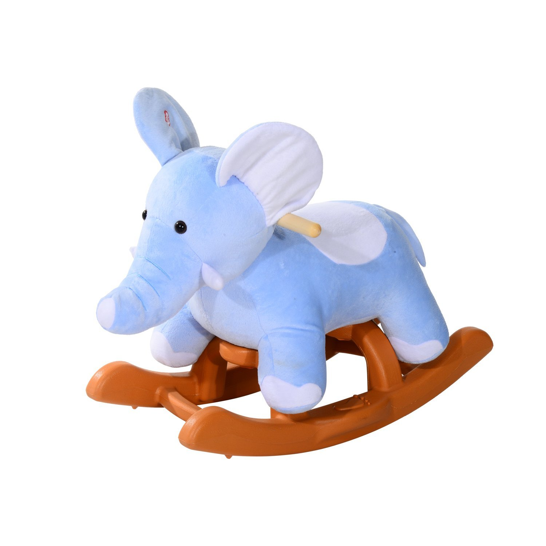 Amazon.com: Qaba Kids Plush Rocking Horse Style Elephant Theme Rocker Chair:  Toys U0026 Games