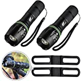 Hausbell flashlight,Tactical Flashlight,LED Handheld Flashlights,Mini LED Flashlight,Zoomable,High Lumen Flashlights,Water Resistant,5 Light Modes Camping Lantern Flashlight for Camping,Hiking