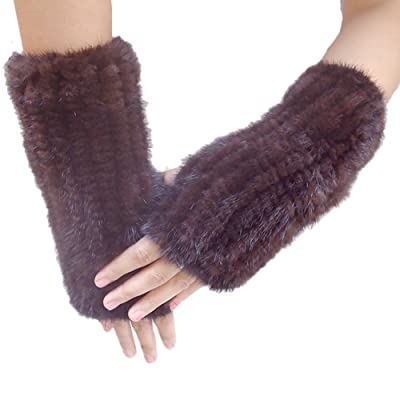 New Fashion Mink Fur Knitted Gloves