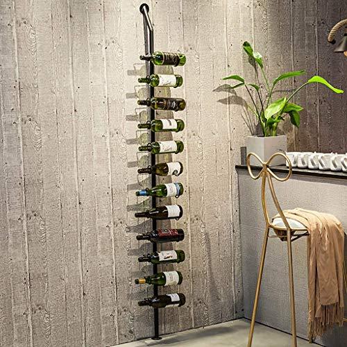 GWFVA Wine Rack Iron Creative Bar Home Hanging Floor-Standing Wine Display Stand.