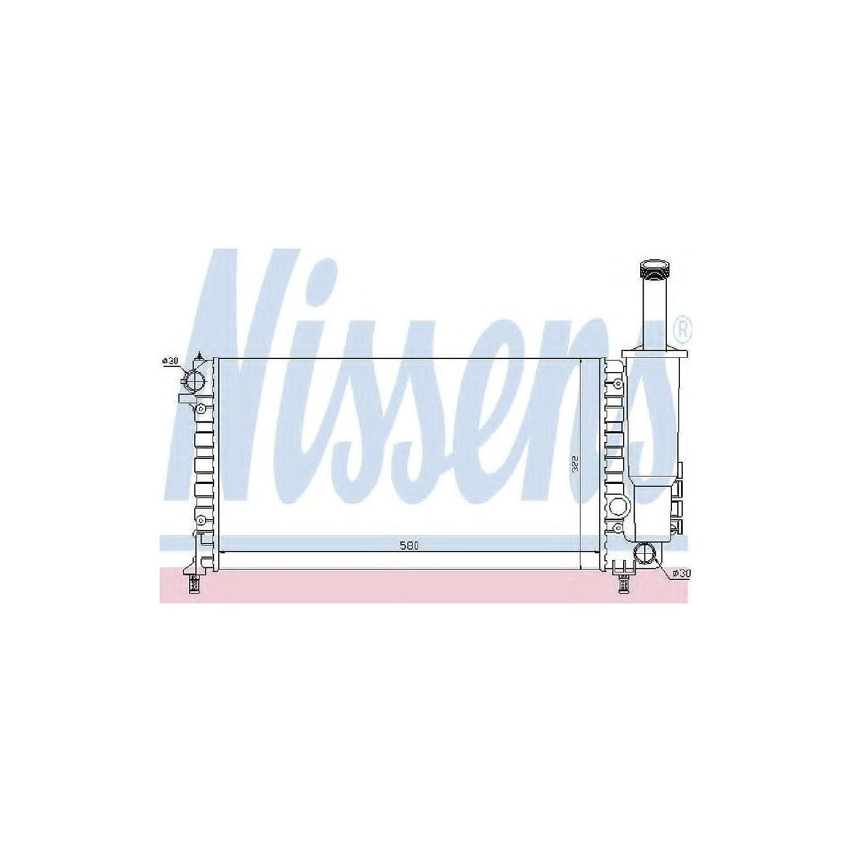 Nissens 61881 Radiatore per Raffreddamento del Motore