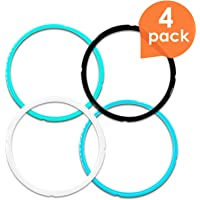 Upgraded Version Silicone Sealing Ring for Instant Pot Accessories, Fits 5/6/8 Qt Pressure Cooker Models, Perfect Instapot Sealing Ring Replacement to Separate Your Flavors, Easy to Clean -4 pack