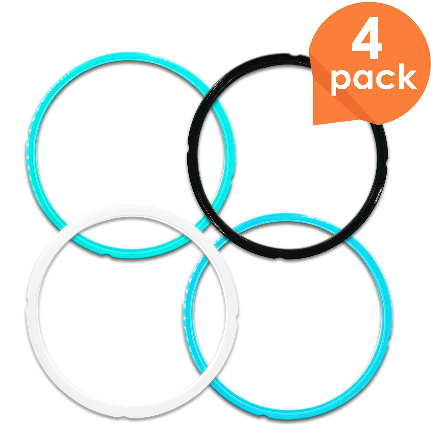 Upgraded Version Silicone Sealing Ring for Instant Pot Accessories, Fits 5/6 Qt Pressure Cooker Models, Perfect Instapot Sealing Ring Replacement to Separate Your Flavors, Easy to Clean -4 pack
