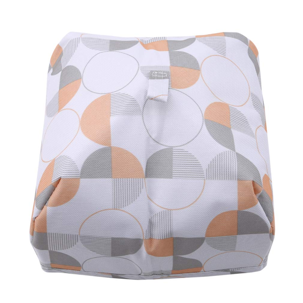 EH-LIFE Food Cover Keep Warm Foldable Aluminum Foil Vegetable Cover Dishes Kitchen Dust-proof Insulation Cover Small White Round 3#