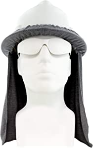 Benchmark FR Flame Resistant Hard Hat Neck Shade, Sol Shade, Lt. Gray, One Size