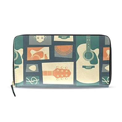 be72b5d56627 Image Unavailable. Image not available for. Color  Guitar Collage Zip  Around Wallet Credit Card ...