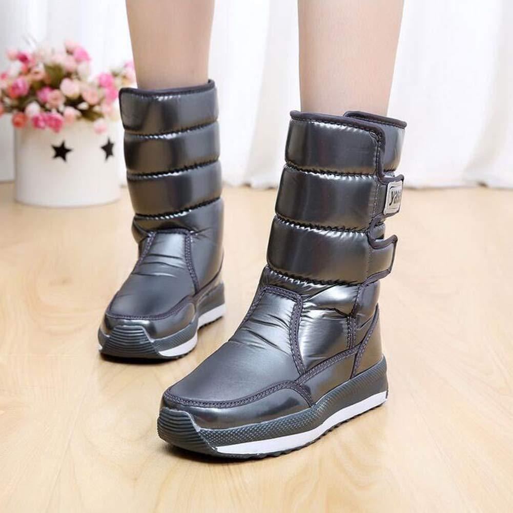 YIWU Winter Plus Plus Plus samt Schnee Stiefel Frauen Stiefel in der Rohr Wasserdichte Dicke warme Baumwolle Schuhe Dicke Kurze Stiefel Studenten (Farbe   E, Größe   EU36 UK3.5 CN35) f29cb4