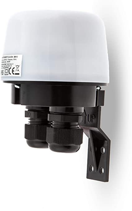 Huber Twilight 10 Interrupteur Crepusculaire Exterieur Blanc Apparent Capteur Crepusculaire Reglable Ip65 Protege Contre Les Jets D Eau 2 Entrees De Cable Amazon Fr Bricolage