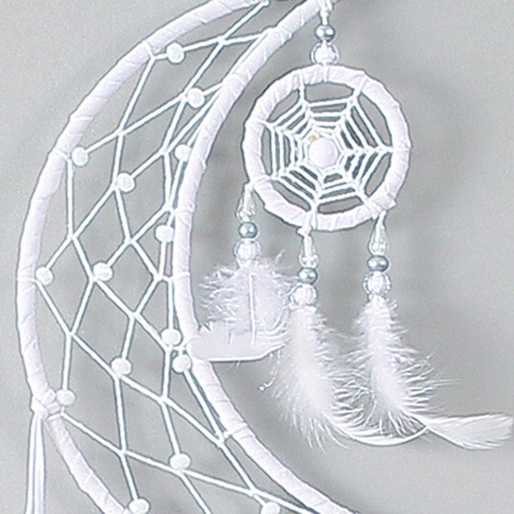 Ritokme D/écorations pour la Maison de Voiture Dream Catcher Moon Feather Objets de d/écoration