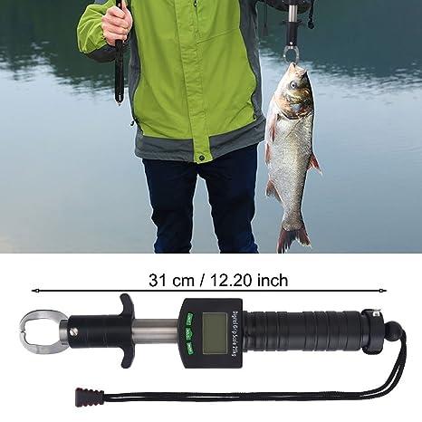 25kg/55lb Digital Scale Sporting Goods Fish Lip Gripper Fishing Grip Grabber Stainless Steel Fishing