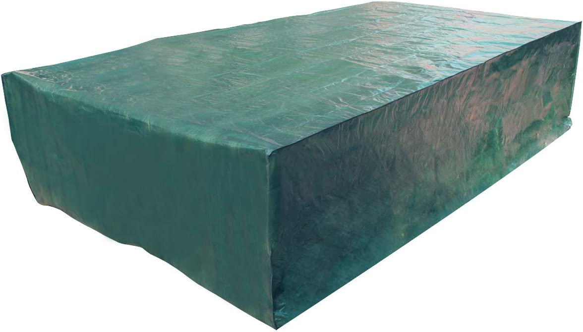 Laxllent Funda para Mesa de Jardín Impermeable al Viento Resistencia Funda para Muebles de Patio al Aire Libre, 315 x 160 x 70 cm, Verde: Amazon.es: Jardín