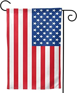 aportt American National Flag US Garden Flag - 12.5 × 18 Inch -Vivid Color and UV Fade Resistant Vertical Double Sides US Flag Outdoor Decor for Homes and Gardens Polyester us National Garden Flag