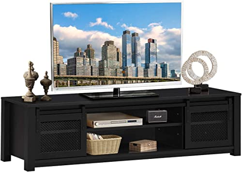 Tangkula Farmhouse TV Stand