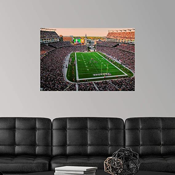 24 x 18 Elevated view of Gillette Stadium home of Super Bowl champs New England Patriots NFL Team play against Dallas CowboysOctober 16 2011 Foxborough Boston MA Poster Print by Panoramic Images