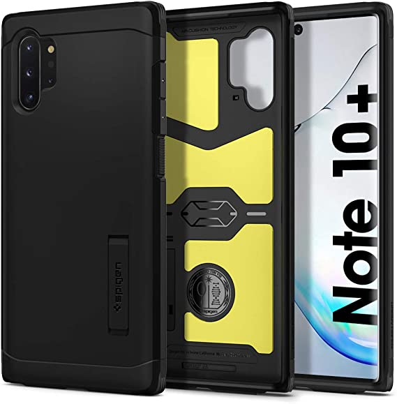 2019 Spigen Rugged Armor Designed for Samsung Galaxy Note 10 Plus Case//Galaxy Note 10 Plus 5G Case Matte Black