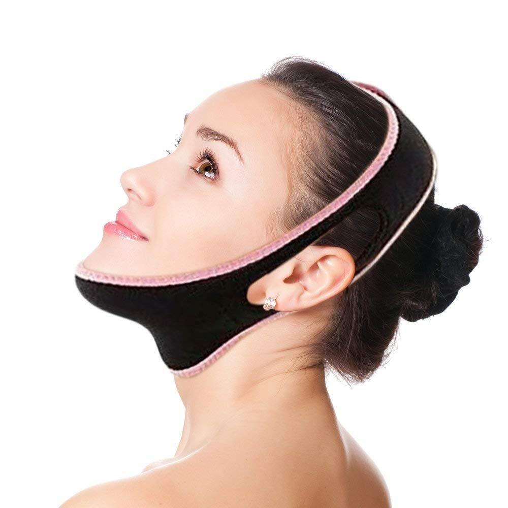 BeatlGem Correa Facial Adelgazante - Máscara Facial Chin Lift - Elimina la flacidez de la Piel - Anti envejecimiento sin Dolor