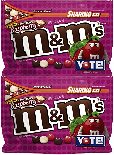 M&M's Chocolate Candy  Flavor Vote Crunchy Raspberry Shari