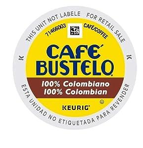 Café Bustelo Coffee 100% Colombian Medium Roast Coffee, 12 K Cups for Keurig Coffee Makers