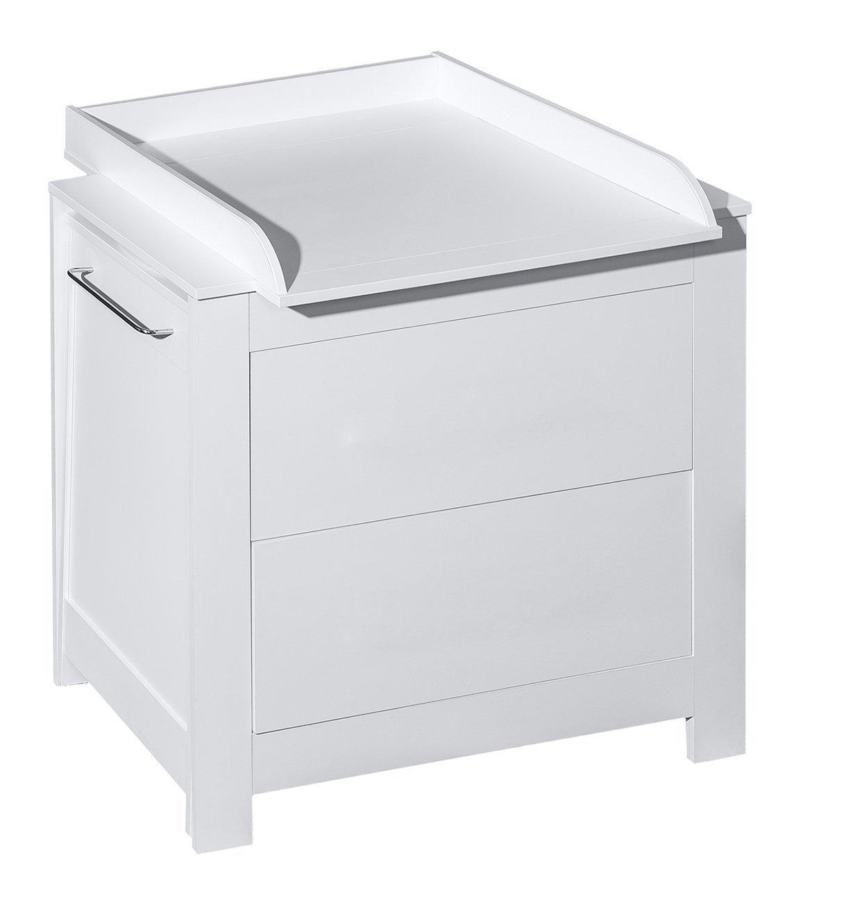 Belivin/® 3in1 Wickelkommode wei/ß gro/ße Schubladen ausziehbare Badewanne Wickeltisch wei/ß inkl umbaubar zur normalen Kommode extra gro/ßen abnembaren Wickelaufsatz besonders stabil