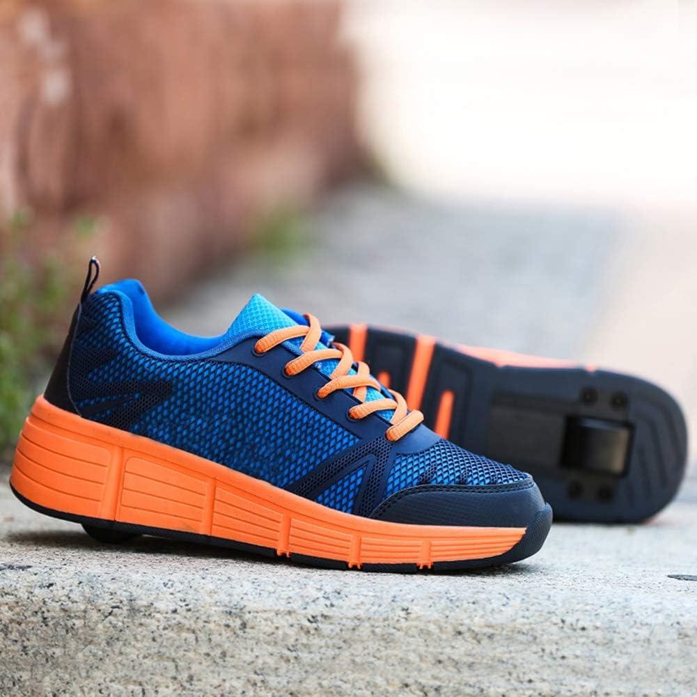 Moojm Chaussures /à roulettes Chaussures Baskets pour Gar/çons et Filles Enfants Lumineuse avec Roue Chaussures de Sport