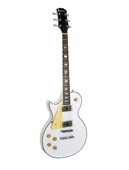 Guitarra eléctrica METEOR HIT para zurdos, blanco - Guitarra para avanzados / Guitarra de rock