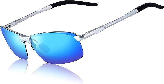 ATTCL Hombre Gafas De Sol Polarizado Uv400 Súper Ligero Al-Mg Marco De Metal