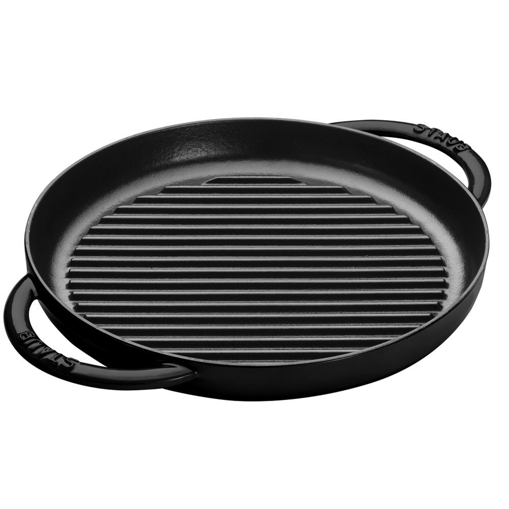 Staub 1203023 Cast Iron Pure Grill Pan, 10-inch, Black Matte