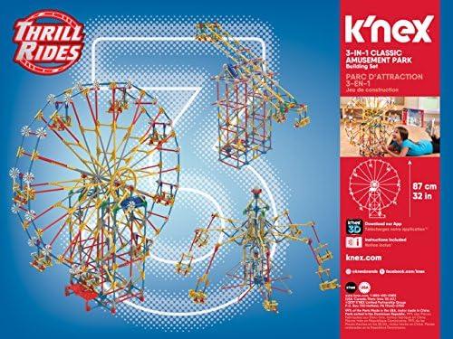 Amazoncom Knex Thrill Rides 3 In 1 Classic Amusement Park