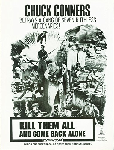 Kill Them All and Come Back Alone (1968) Chuck Connors, Frank Wolff pressbook