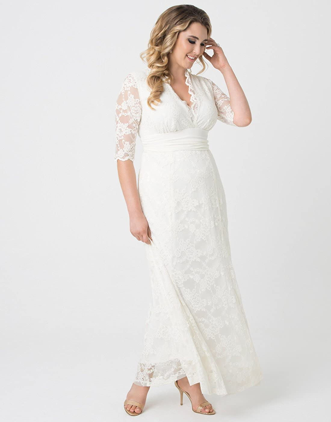 ff63fed5e14 Kiyonna Women s Plus Size Amour Lace Wedding Gown  1541663656-375388 ...