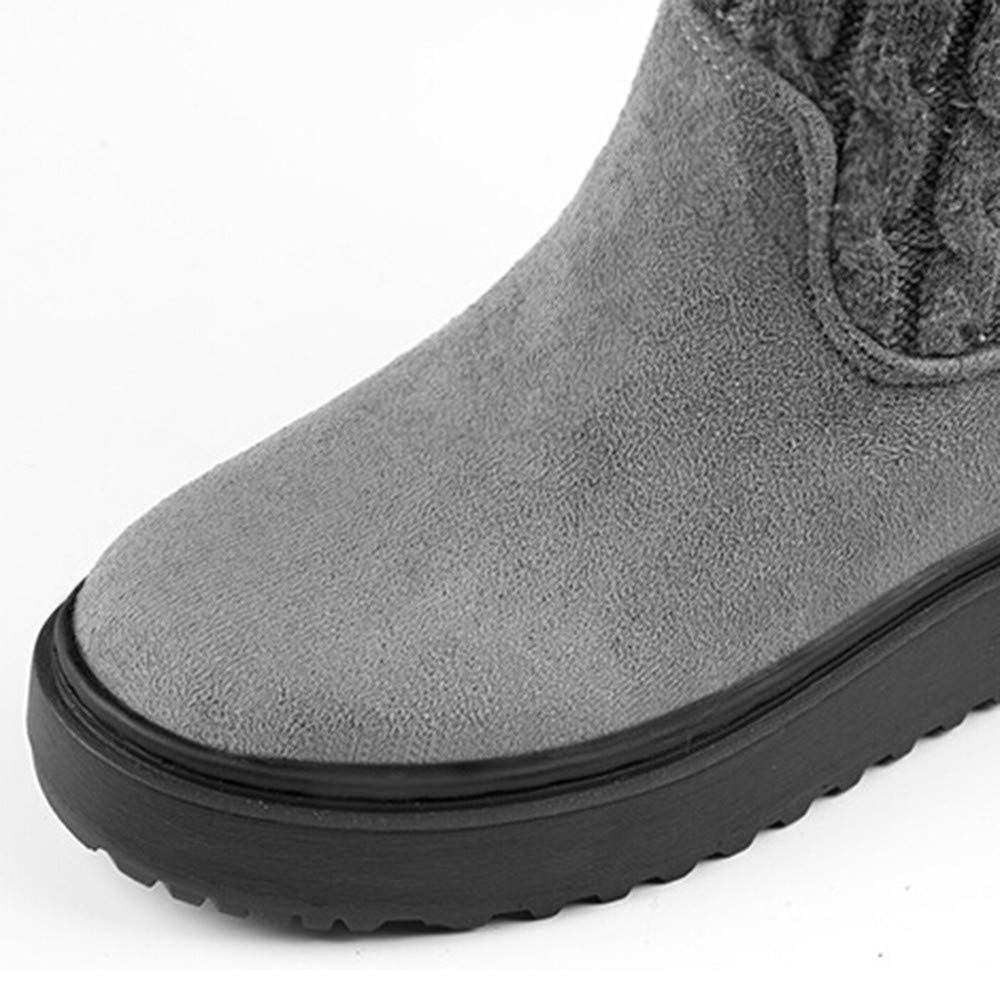 ZARLLE_Botas Botas de Tubo Altas de Mujer, Rodilla de Cuero de la Moda Calcetines Largos Señoras Altas Botas Sobre los Zapatos de los Altos Talones de la ...