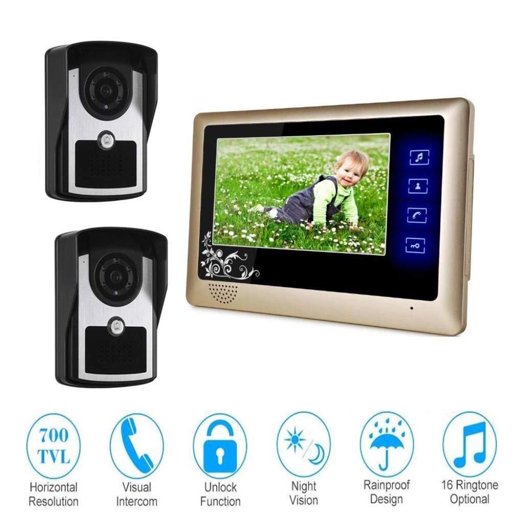 【オープニングセール】 ビデオカメラドアベル7インチインターホンドアベルのアクセス管理システム、有線ビデオドアベル、1ボタン監視/ロック解除/電話、ナイトビジョン防水   B07R4WCBHZ, きものSHOP えりしょう:85cadce5 --- dou13magadan.ru
