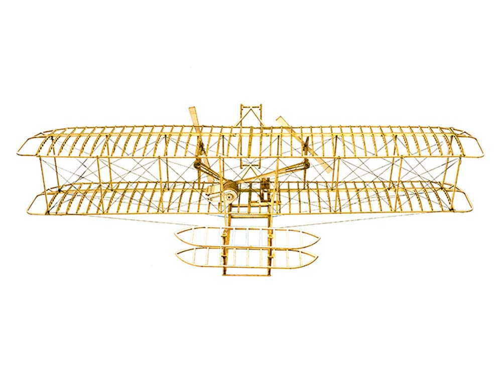 DIY 3D Wooden Puzzle Wright Brothers Flyer Model Airplanes, Laser