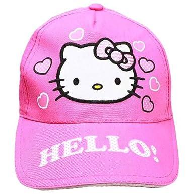 c3c9983f626f3 Amazon.com  Hello Kitty Pink Baseball Cap Hat  Clothing