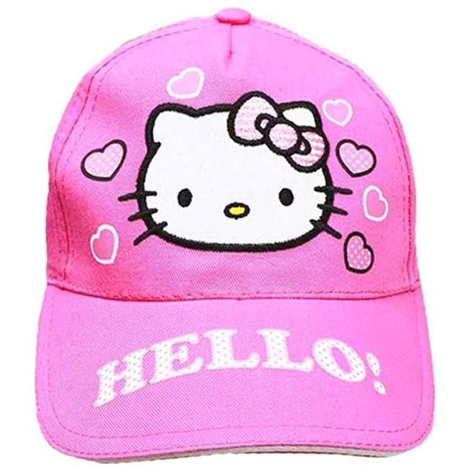Amazon.com  Hello Kitty Pink Baseball Cap Hat  Clothing 8c2896e78d8