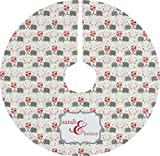 RNK Shops Elephants in Love Tree Skirt (Personalized)
