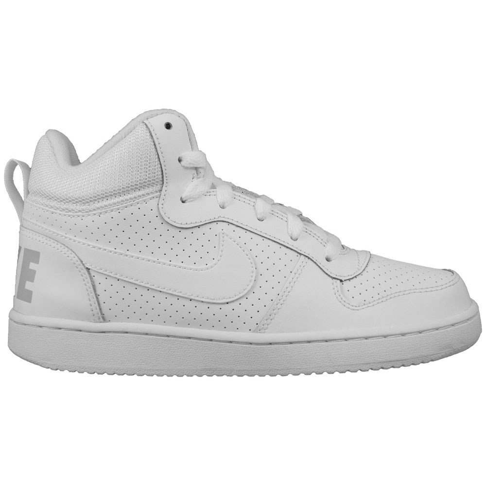 Nike Court Borough Mid GS - 839977100 - Color White - Size: 6.5 by NIKE