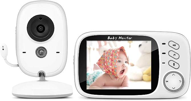 Vigilabebés con cámara, monitor de vídeo inteligente BOIFUN con ...