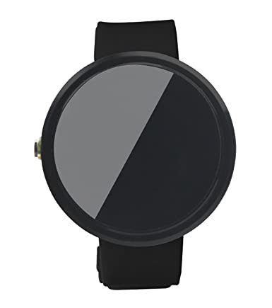 Yutaoz 22mm Replacement Silicon Sport Band Specially for Moto 360 1st Generation Smartwatch (Black)
