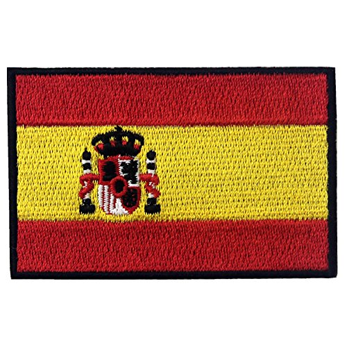 EmbTao Spain Flag Embroidered Patch Spanish Iron
